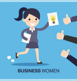 businesswoman with an idea vector image