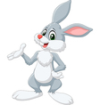 Cartoon bunny presenting isolated vector image vector image