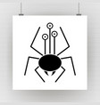 cartoon spider silhouette with eyes vector image