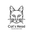 cat head logo outline vector image vector image