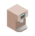 Coffee machine icon isometric 3d style vector image