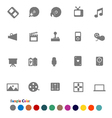 Collection Icons set Media vector image vector image