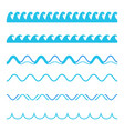 creative of blue sea line vector image vector image