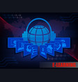 dark blue internet background c characters e vector image vector image