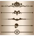 Dark decorative lines vector image vector image