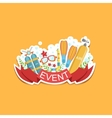 Diving Event Template Label Cute Sticker vector image vector image