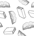 Doodle books pattern seamless vector image