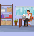 employer working in office vector image