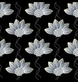 floral seamless pattern abstract black repeating vector image vector image