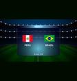 football scoreboard broadcast graphic vector image vector image