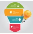 four 4 elements of idea info graphic chart overlap vector image vector image