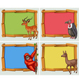 Frame designs with many animals vector image vector image