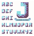 Full polygonal triangular alphabet vector image