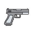 gun pistol color icon vector image vector image