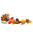 happy thanksgiving day decoration vector image vector image