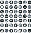 industry factory icons set vector image vector image