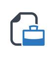 job portfolio icon vector image