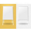 mockup banner stend isolated yellow vector image