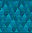 mysterious pattern with blue coniferous forest vector image vector image