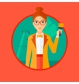 Painter with paint brush vector image vector image