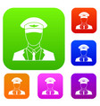 pilot set collection vector image vector image