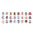 profile round avatars happy people different vector image