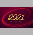 realistic shiny 3d golden inscription 2021 happy vector image vector image
