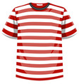 red and white stripes pattern t shirt vector image vector image