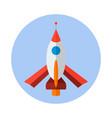 rocket flat icon rocket icon g vector image vector image