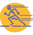 Runner logo vector image vector image