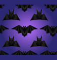 seamless pattern with 3d of origami bat on violet vector image