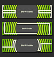 set banner templates vector image vector image