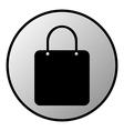 Shopping bag button vector image