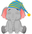 Sleeping Elephant in a cap vector image vector image