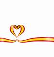 spanish flag heart-shaped ribbon vector image vector image