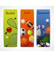 Sports vertical banners vector image vector image