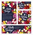 springtime season flowers posters vector image vector image