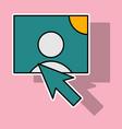 sticker web design elements picture mouse arrow vector image vector image