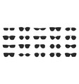 sunglasses icon set black glasses optic frames vector image