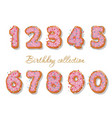 sweet hand drawn numbers set for birthday design vector image