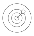 Target board and arrow line icon vector image vector image