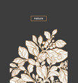 template nature black branch vector image
