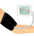 we measure arterial pressure vector image