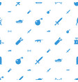 weapon icons pattern seamless white background vector image vector image