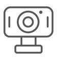 webcam line icon cam and device computer camera vector image vector image