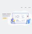 website for business strategy development with vector image vector image