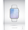 White smart watch isolated on white backround vector image