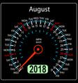 year 2018 calendar speedometer car in concept vector image vector image