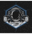 Astronaut with a geometric element vector image