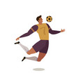 soccer player forward football flat vector image